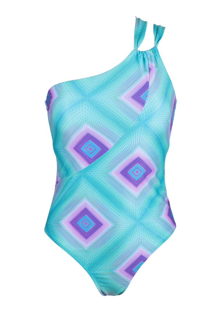 GEOMETRIC Asymmetric one piece swimsuit